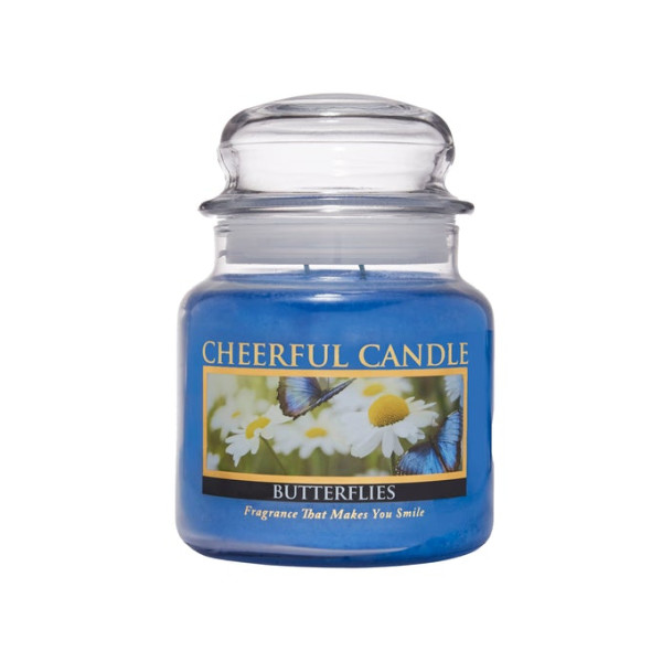 Cheerful Candle Butterflies 2-Docht-Kerze 453g