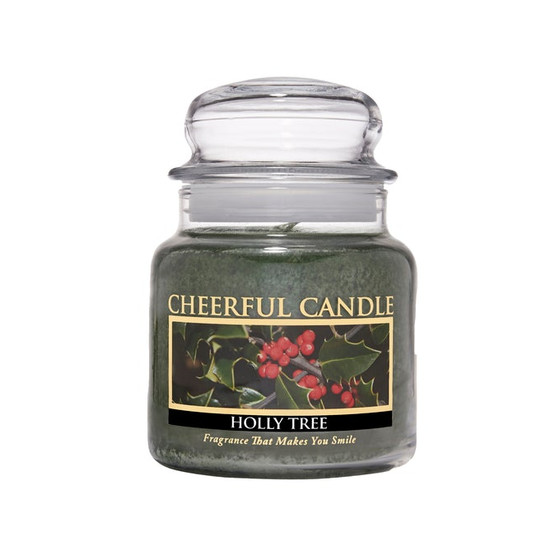 Cheerful Candle Holly Tree 2-Docht-Kerze 453g