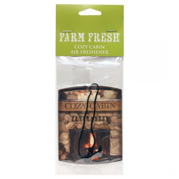 Cheerful Candle Car Air Freshener Cozy Cabin