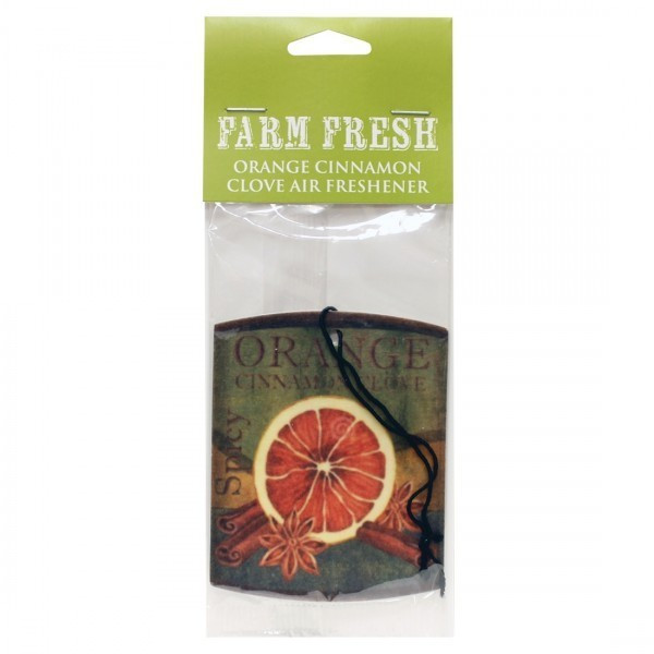 Cheerful Candle Car Air Freshener Orange Cinnamon Clove