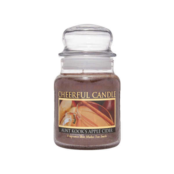 Cheerful Candle Aunt Kooks Apple Cider 1-Docht-Kerze 170g