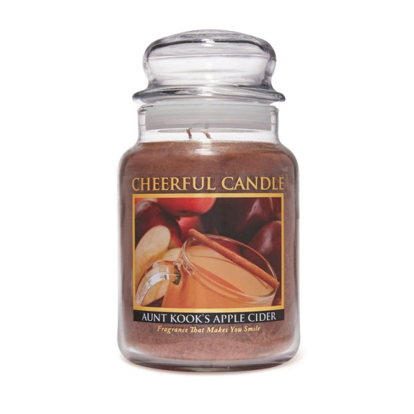 Cheerful Candle Aunt Kooks Apple Cider 2-Docht-Kerze 680g