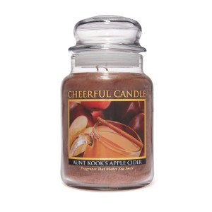 Cheerful Candle Aunt Kook's Apple Cider 2-Docht-Kerze 680g