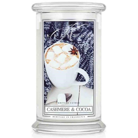 Kringle Candle® Cashmere & Cocoa 2-Docht-Kerze 623g