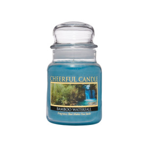 Cheerful Candle Bamboo Waterfall 1-Docht-Kerze 170g