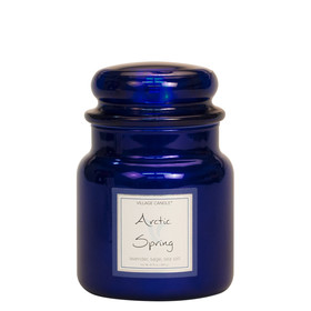 Village Candle® Arctic Spring 2-Docht-Kerze 411g Limited Edition Metallic Line