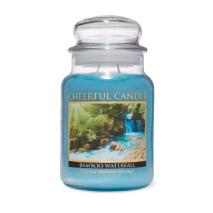 Cheerful Candle Bamboo Waterfall 2-Docht-Kerze 680g