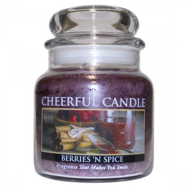 Cheerful Candle Berries N Spice 2-Docht-Kerze 453g