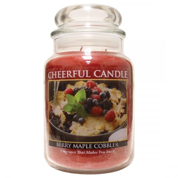 Cheerful Candle Berry Maple Cobbler 2-Docht-Kerze 680g