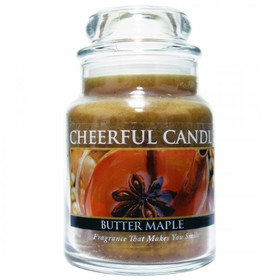 Cheerful Candle Butter Maple Toddy 1-Docht-Kerze 170g