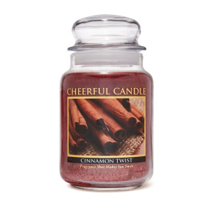 Cheerful Candle Cinnamon Twist 2-Docht-Kerze 680g