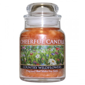 Cheerful Candle Country Wildflowers 1-Docht-Kerze 170g