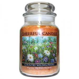 Cheerful Candle Country Wildflowers 2-Docht-Kerze 680g