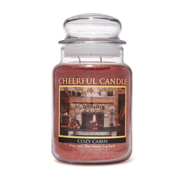 Cheerful Candle Cozy Cabin 2-Docht-Kerze 680g