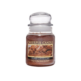 Cheerful Candle Crumb Coffee Cake 1-Docht-Kerze 170g