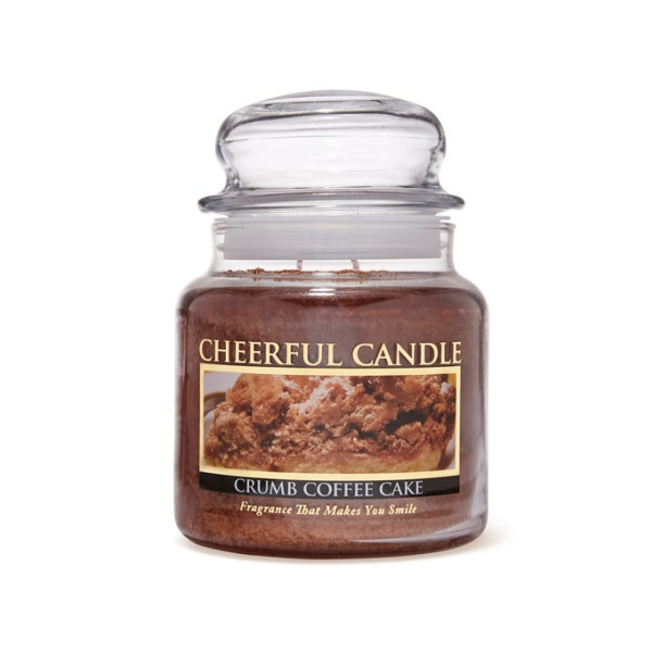 Cheerful Candle Crumb Coffee Cake 2-Docht-Kerze 453g