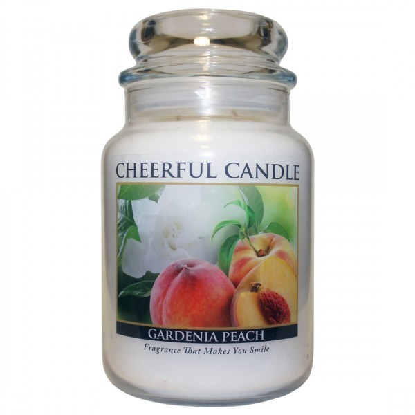 Cheerful Candle Gardenia Peach 2-Docht-Kerze 680g