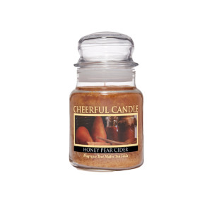 Cheerful Candle Honey Pear Cider 1-Docht-Kerze 170g