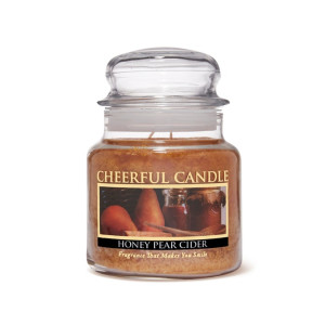 Cheerful Candle Honey Pear Cider 2-Docht-Kerze 453g