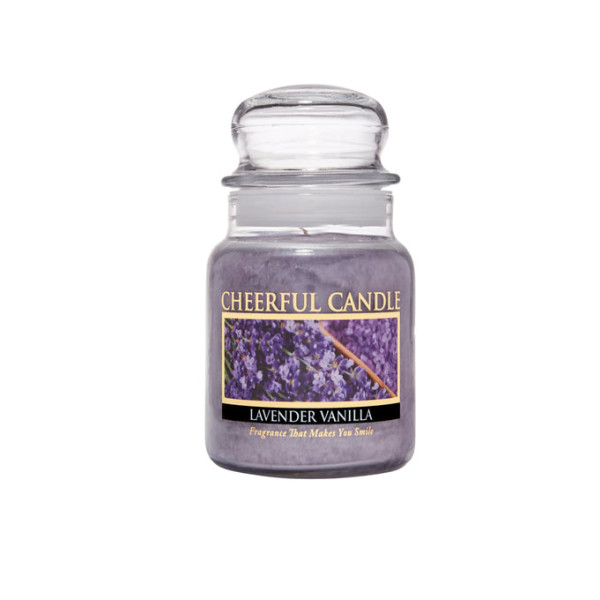 Cheerful Candle Lavender Vanilla 1-Docht-Kerze 170g