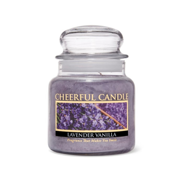 Cheerful Candle Lavender Vanilla 2-Docht-Kerze 453g