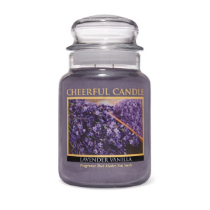 Cheerful Candle Lavender Vanilla 2-Docht-Kerze 680g