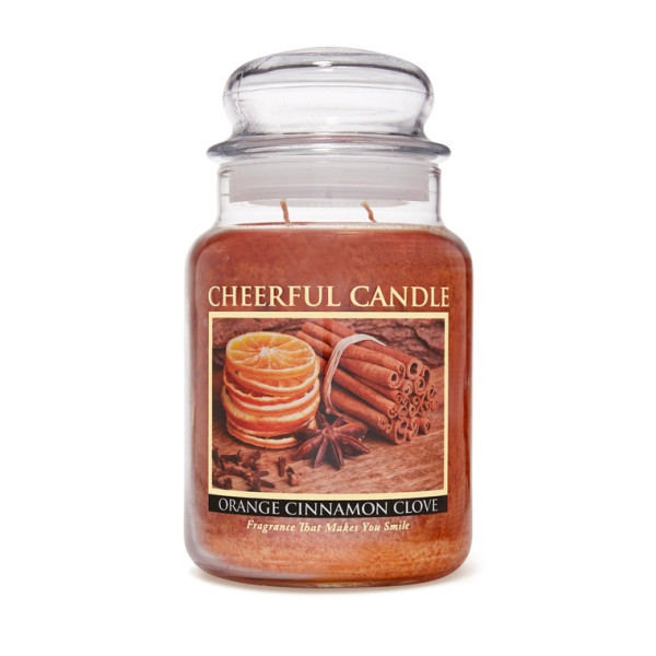 Cheerful Candle Orange Cinnamon Clove 2-Docht-Kerze 680g