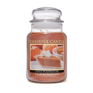 Cheerful Candle Papa's Pumpkin Pie 2-Docht-Kerze 680g