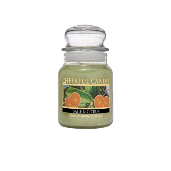 Cheerful Candle Sage And Citrus 1-Docht-Kerze 170g