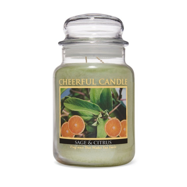 Cheerful Candle Sage And Citrus 2-Docht-Kerze 680g