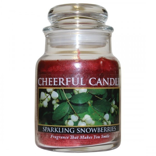 Cheerful Candle Sparkling Snowberries 1-Docht-Kerze 170g