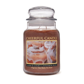 Cheerful Candle Warm & Gooey Cinnamon Buns 2-Docht-Kerze 680g