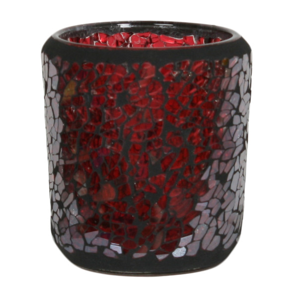 Votivkerzenhalter Red Crackle