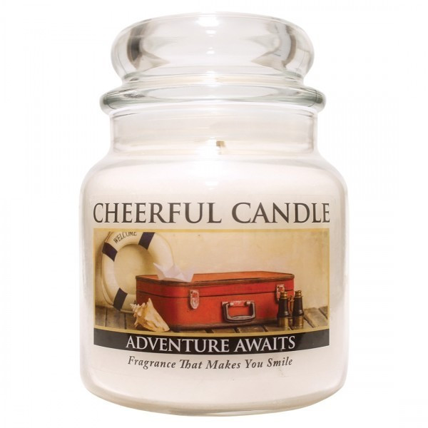 Cheerful Candle Adventure Awaits 2-Docht-Kerze 453g