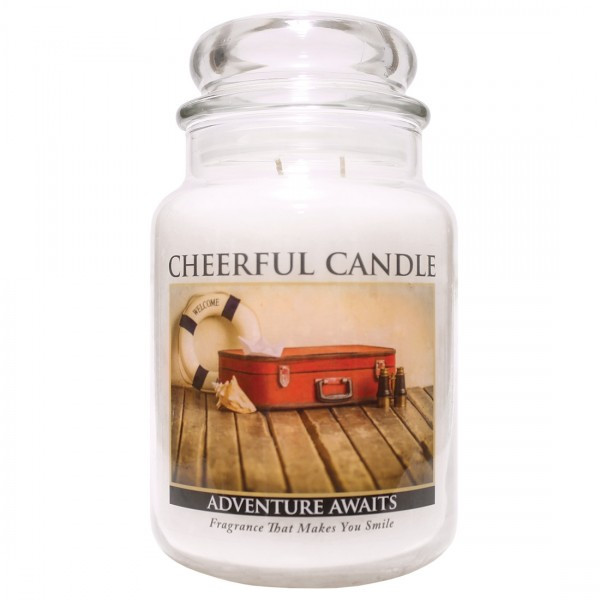 Cheerful Candle Adventure Awaits 2-Docht-Kerze 680g