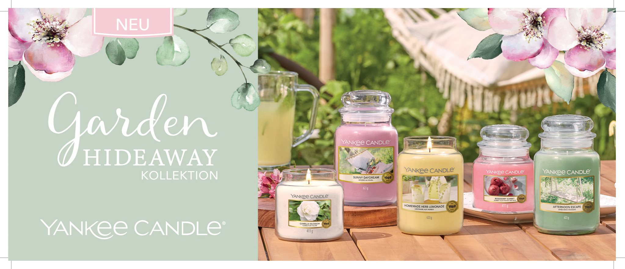 Yankee Candle Garden Hideaway Kollektion